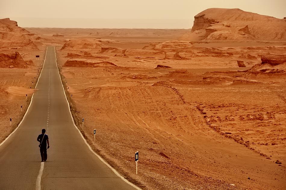 carretera en el desierto de Iran, Cuándo viajar a Irán