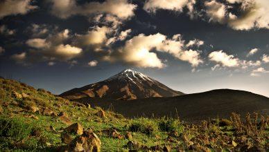 Montañas de Damavan en Irán